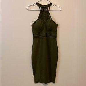 Windsor olive cocktail dress
